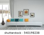 white living room interior with ... | Shutterstock . vector #540198238