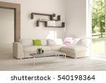 white living room interior with ... | Shutterstock . vector #540198364