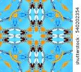 melting colorful kaleidoscopic...   Shutterstock . vector #540202354