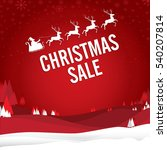 christmas sale with santa claus ...   Shutterstock .eps vector #540207814