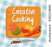 creative cooking  cooking... | Shutterstock .eps vector #540214840