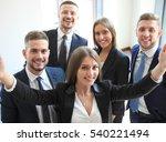 people taking selfie at... | Shutterstock . vector #540221494