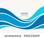 marine pattern with stylized... | Shutterstock .eps vector #540223609