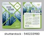 greenery brochure layout design ... | Shutterstock .eps vector #540233980