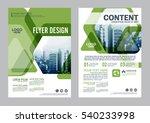 greenery brochure layout design ... | Shutterstock .eps vector #540233998