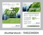 greenery brochure layout design ... | Shutterstock .eps vector #540234004