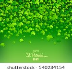 green background with trifolium ... | Shutterstock .eps vector #540234154