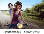 cheerful friendship two asian... | Shutterstock . vector #540240940