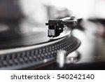 dj turntable vinyl records... | Shutterstock . vector #540242140