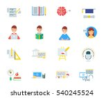 education and e learning vector ... | Shutterstock .eps vector #540245524