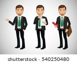 elegant people businessman | Shutterstock .eps vector #540250480