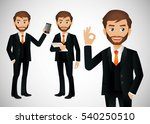 elegant people businessman | Shutterstock .eps vector #540250510