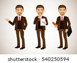 elegant people businessman | Shutterstock .eps vector #540250594