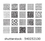 hand drawn textures and brushes.... | Shutterstock .eps vector #540252130