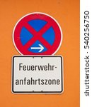 fire driveway sign  germany... | Shutterstock . vector #540256750