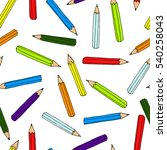 colorful pencils pattern....   Shutterstock . vector #540258043