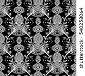 paisley seamless pattern.... | Shutterstock .eps vector #540258064