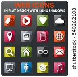 social media icons set in flat... | Shutterstock .eps vector #540262108