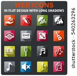 music icons set in flat design... | Shutterstock .eps vector #540263296