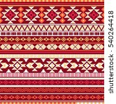 ethnic seamless pattern with... | Shutterstock .eps vector #540264418