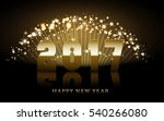 2017 happy new year background... | Shutterstock .eps vector #540266080