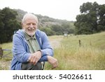 portrait of an old man resting... | Shutterstock . vector #54026611