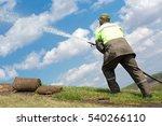 gardener man worker watering...   Shutterstock . vector #540266110
