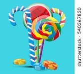 colorful sweets lollipops and... | Shutterstock .eps vector #540267820