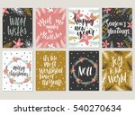 set of christmas greeting card  ... | Shutterstock .eps vector #540270634