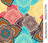 ethnic floral seamless pattern. ... | Shutterstock . vector #540272794