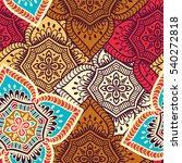 ethnic floral seamless pattern. ... | Shutterstock . vector #540272818
