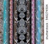 paisley seamless pattern... | Shutterstock .eps vector #540274504