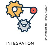 integration vector icon | Shutterstock .eps vector #540276034