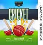 vector cricket poster event... | Shutterstock .eps vector #540280954