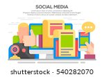 vector illustration of  social... | Shutterstock .eps vector #540282070