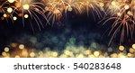 Gold And Dark Blue Fireworks...