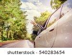 close up woman hand relaxing... | Shutterstock . vector #540283654