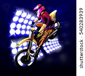 motocross on the background...   Shutterstock .eps vector #540283939