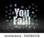 finance concept  glowing text... | Shutterstock . vector #540284128