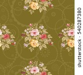 seamless floral pattern with... | Shutterstock .eps vector #540287380