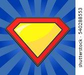 superhero logo template. red ... | Shutterstock . vector #540288553