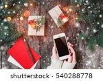 female hands holding mobile... | Shutterstock . vector #540288778