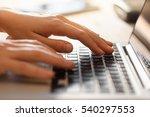 hands working on the computer... | Shutterstock . vector #540297553