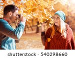 young couple in love enjoying... | Shutterstock . vector #540298660
