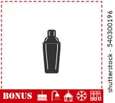 bar shaker icon flat. simple... | Shutterstock .eps vector #540300196