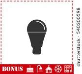 bulb icon flat. simple vector...