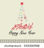 happy new year greeting card in ... | Shutterstock .eps vector #540300988
