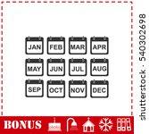 calendar icon flat. simple... | Shutterstock .eps vector #540302698