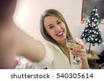 people  holidays and technology ... | Shutterstock . vector #540305614