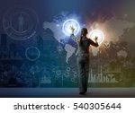 futuristic graphical interface... | Shutterstock . vector #540305644